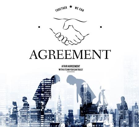 bowing: Agreement Partnership Teamwork Support Handshake Graphic