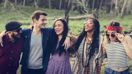 Group of Diverse Friends Having Fun Together