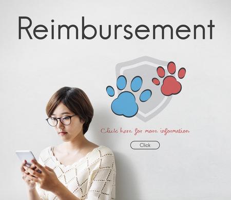 Insurance Coverage Mix Reimbursement Protection Concept Фото со стока