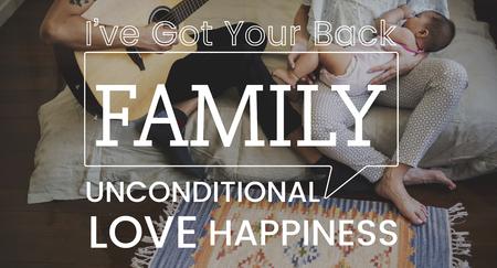 kinship: Family parentage home love together word