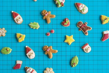 Gingerbread Christmas Decorated Cookies