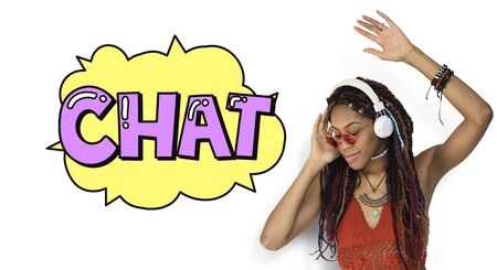 Chat Communication Conversation Discussion Word Stock Photo