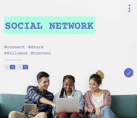 techie: Social Chat Share Online Communication Graphic