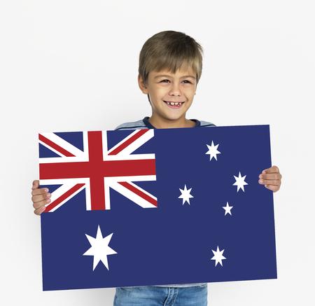 Vlag van de land union jack van Australië
