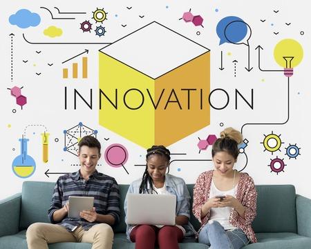 Illustration of innovation technology invention Stock Illustration - 82101801