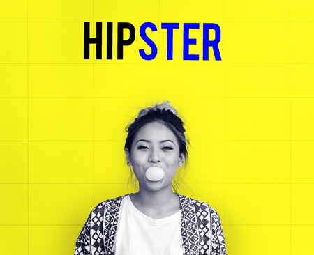 Hipster Freedom Youth Teenager Graphic Word 版權商用圖片