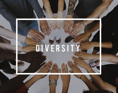 다양한 민족 통합 사회의 다양성 스톡 콘텐츠