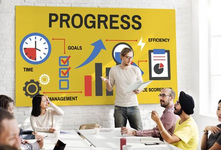Business corporate progress chart report