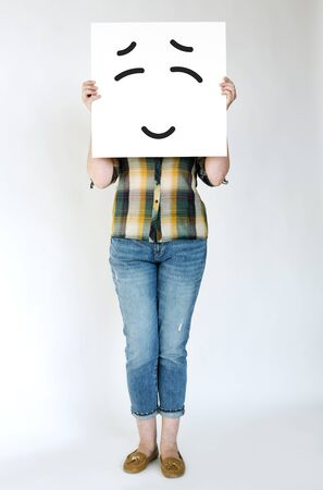 smiley: Illustration of smiley face on banner