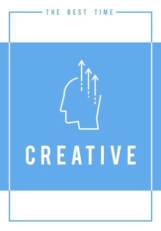Creative ideas ability word graphic illustration