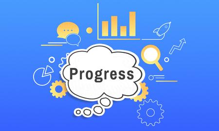 Business Strategy Management Progress Illustration