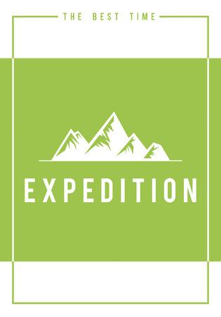 Reise Abenteuer im Freien Exploration Hills Grafik Symbol Standard-Bild - 82249801