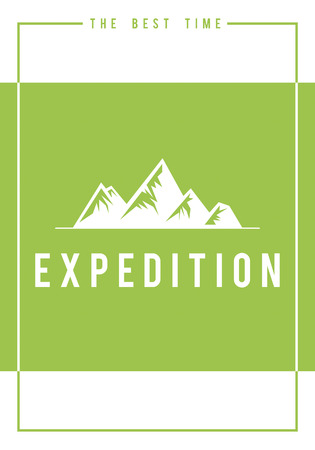Travel adventure outdoors exploration hills graphic icon