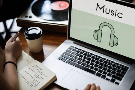 Music Headphones Icon Symbol Sound