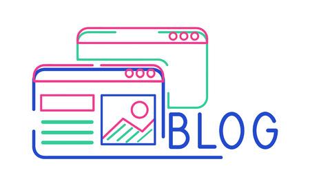 ブログは、オンライン共有コンテンツです。 写真素材