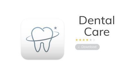 Illustration of dental care application
