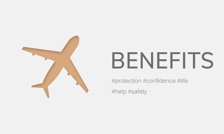 Illustratie van luchtvaart levensverzekerings reizende reis