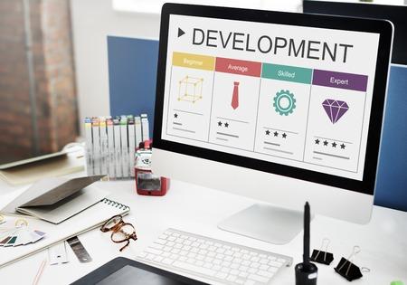 Development Performance Self-Improvement Ratings Icon Stock Photo