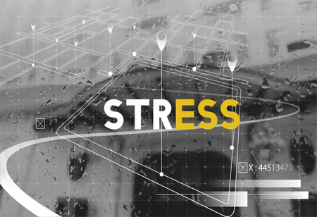 Black and White Style with Stress Word Graphic