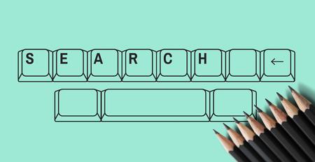 キーボード図の検索を見つける 写真素材