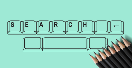 Find search look for keyboard graphic