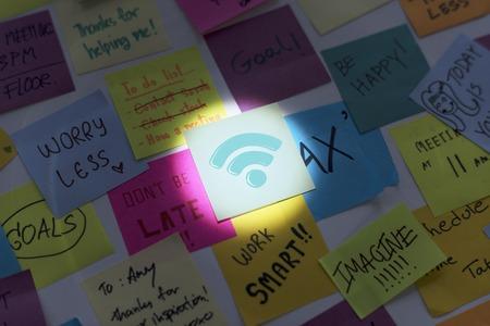 인터넷 와이파이 연결 네트워킹 기술의 그림