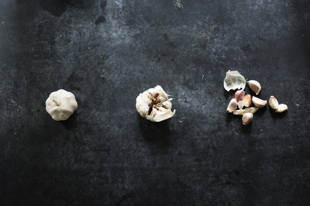 Cloves of garlic isolated on background