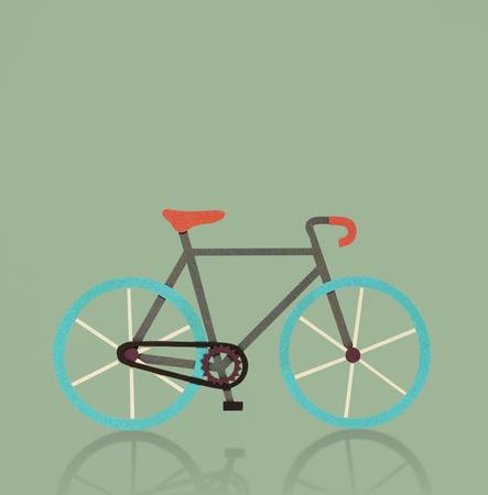 自転車乗って運動トレーニング活動