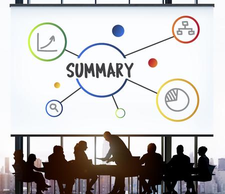 비즈니스 요약 메시지 아이디어 개념 스톡 콘텐츠