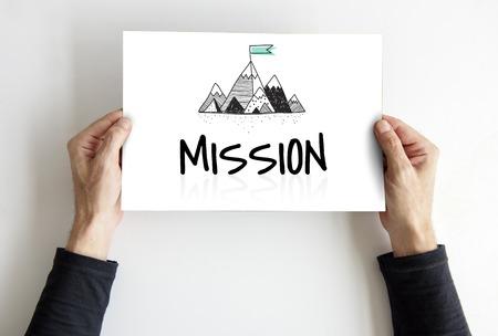 Illustration of mission goals tartget motivation