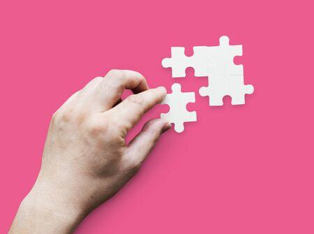 Zusammengehörigkeit Verbindung Teamwork Puzzle Spiel Standard-Bild - 82192493