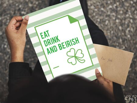 handwrite: Saint Patrick Day Feast Concept Stock Photo