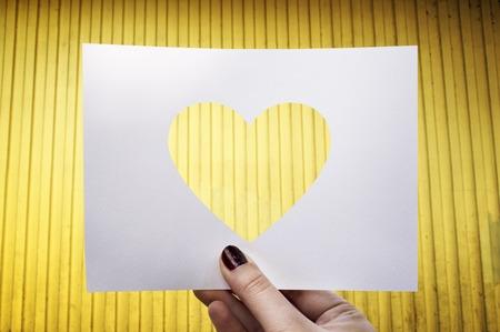 사랑 로맨스 천공 종이 심장