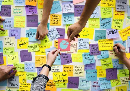 Illustration of business chart marketing share Stock Photo
