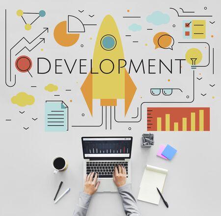 Business Objectives Goals Progress Improvement Concept Stock Photo