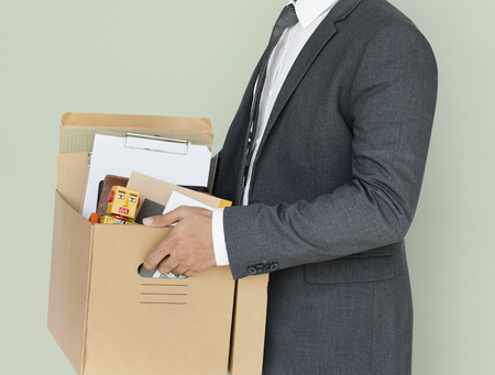Business Man Holding Box Concept Zdjęcie Seryjne - 82278075