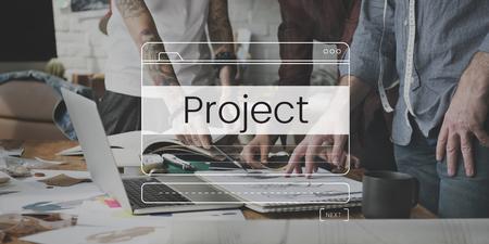 Project Management Planning Development Message Box Notification Graphic