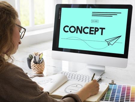 Concept Ideas Inspirational Design Graphic Stock Photo