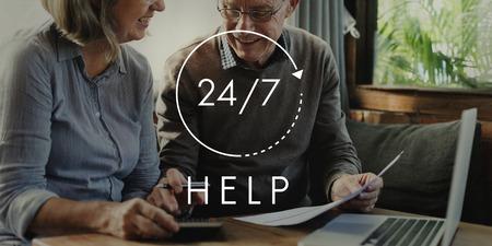247 Help desk customer service overlay