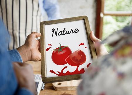 Organic Vegetables Fresh Tomato Concept Stock Photo