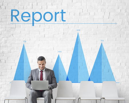 Illustration of business chart report