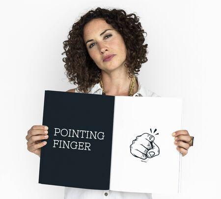 우리가 원하는 포인팅 손가락의 그림