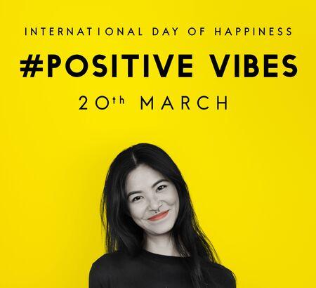 Bonne journée internationale de bonheur Banque d'images - 82312894