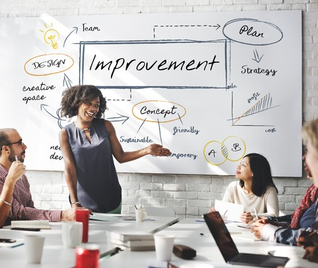 Improvement concept in a meeting room Stock Photo