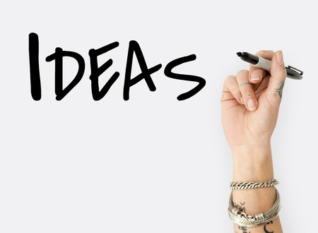 People Hand Writing Ideas Creativity  Design Word 版權商用圖片