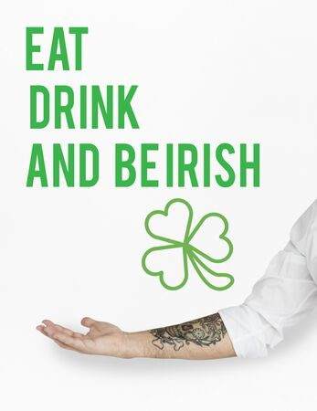 feast: Saint Patrick Day Feast Concept Stock Photo