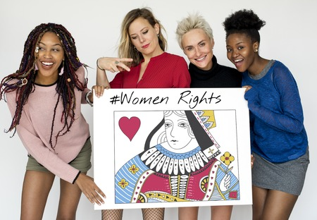 Women Rights Queen Card Concept Stock Photo