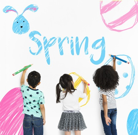 Fête des fêtes de fin d'année de Pâques Banque d'images - 82335452