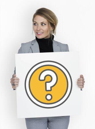 情報ヘルプよくあるご質問質問記号 写真素材