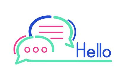 Hello concept Stock Photo